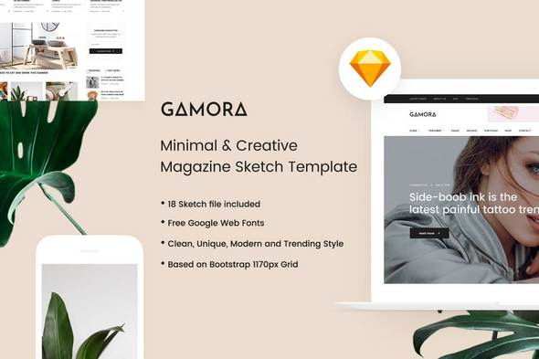 GAMORA - Creative Magazine Sketch Template