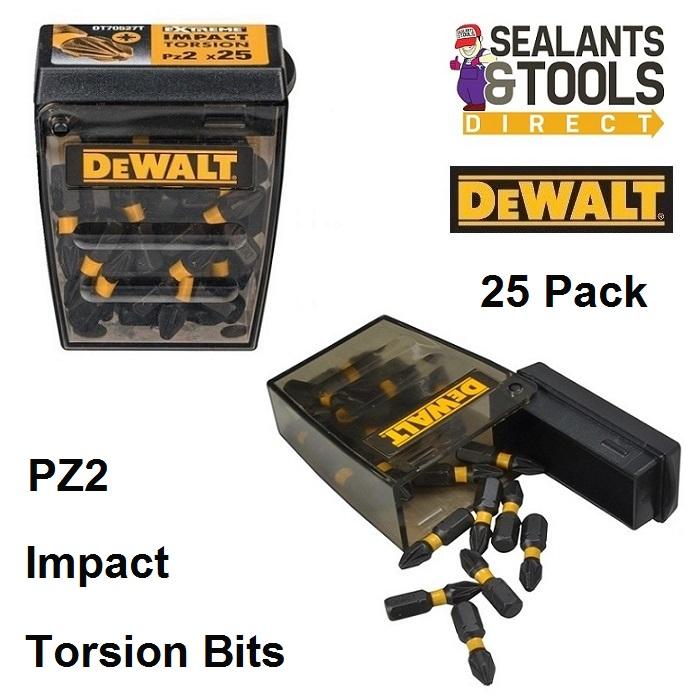Dewalt Pozi PZ2 Impact Bits DT70527T