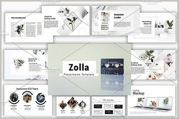 CreativeMarket - Zolla Powerpoint Template 1647333