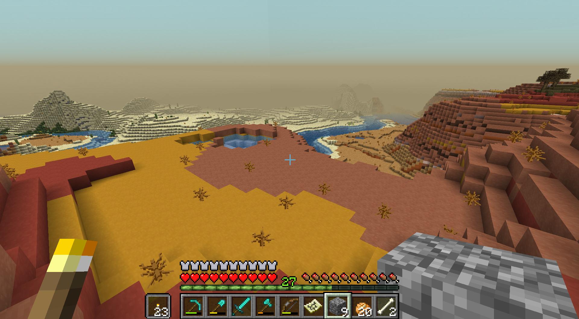 overlooking desert