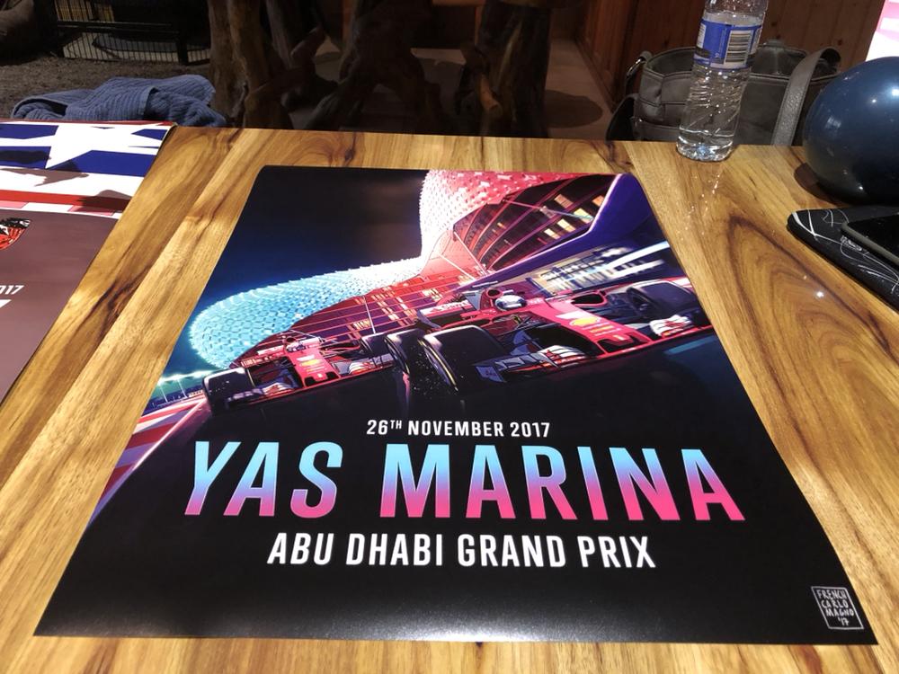 FORMULA 1 2017 F1 FERRARI GRAND PRIX RACE POSTER YAS MARINA