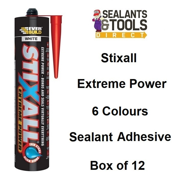 Everbuild Stixall Colour Wet & Dry Sealant Adhesive Box of 12