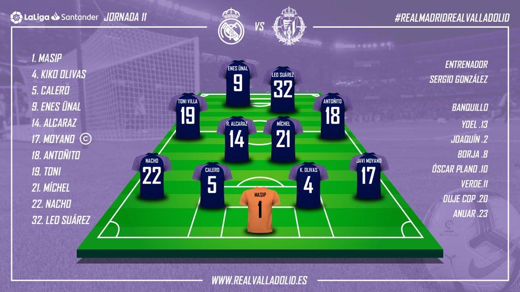 Real Madrid - Real Valladolid. Sábado 3 de Noviembre. 16:15 - Página 2 Alineacion-J11