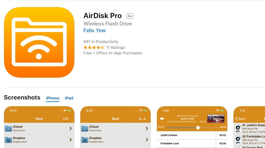 AirDisk Pro - Turn iPhone and iPad into USB Stick, install for free