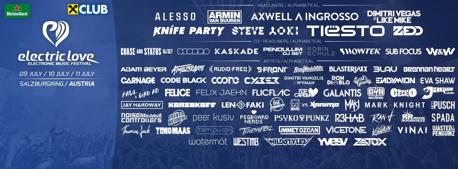 Electric Love FestivalLine Up2015