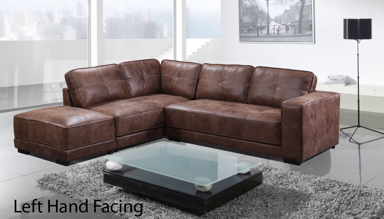 New Cheap Carlton Large Tan Leather Corner Sofa With