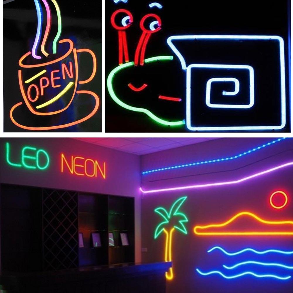 150 led flex neon rope light tube sign valentine xmas. Black Bedroom Furniture Sets. Home Design Ideas