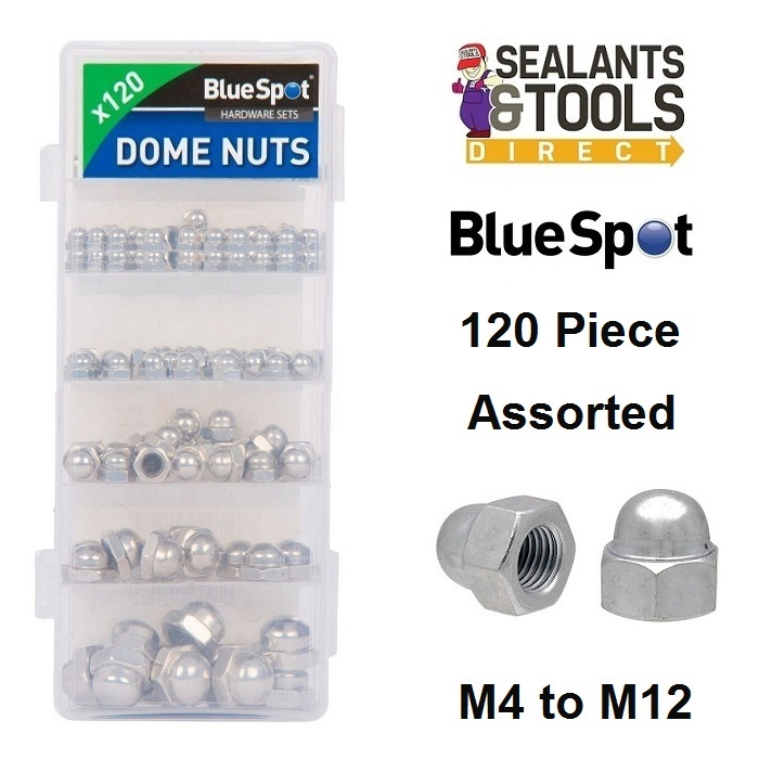 Blue Spot Mixed Domed Nut M3 to M10 40548