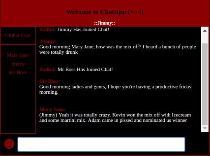 screenshot of sample