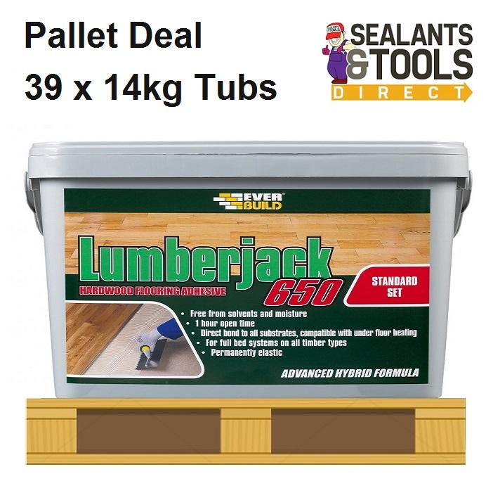 Everbuild Lumberjack 650 Wood Floor Adhesive 39 Tub Pallet