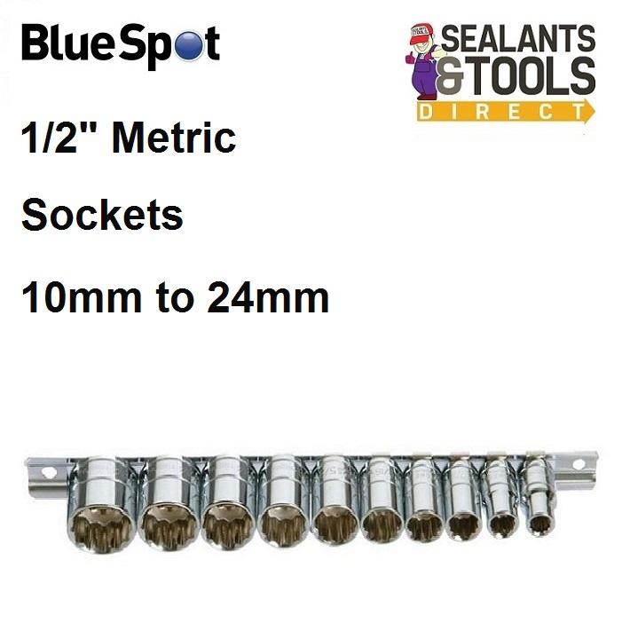 Blue Spot Socket Set On Rail 01526 1/2 Inch