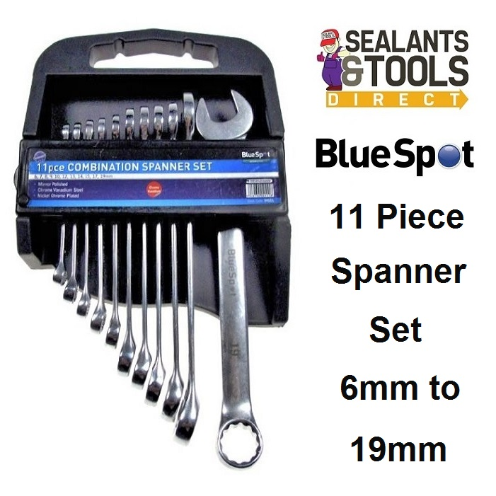Blue Spot Tools Combination Spanner 11pc Set 04111