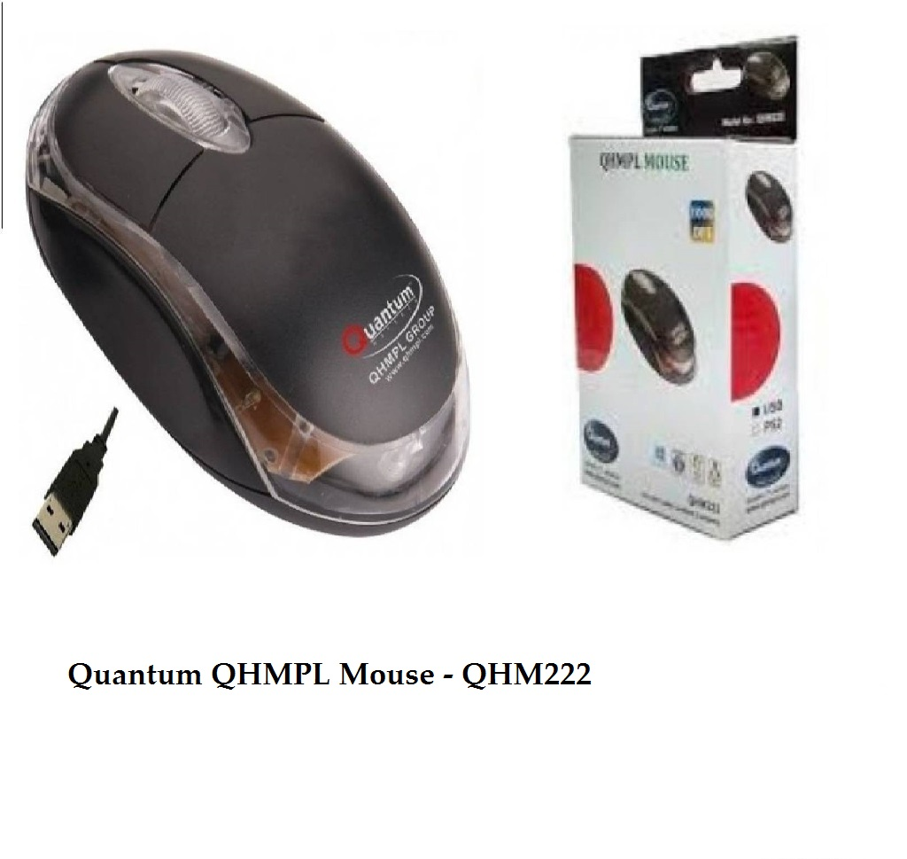 Quantum QHMPL Wired Optical Mouse – QHM222