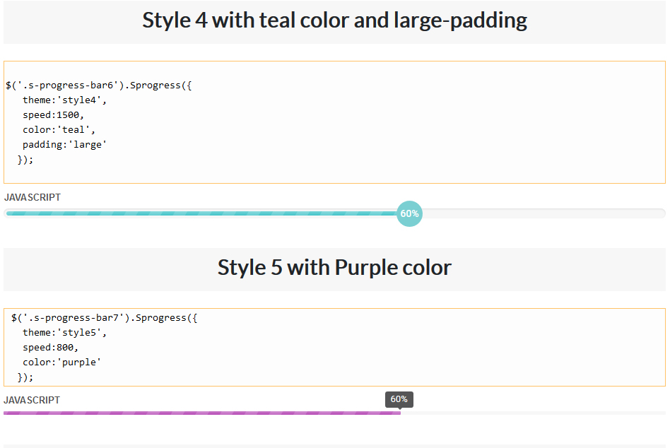 Jquery Semsema Animated Progress Bars - 6