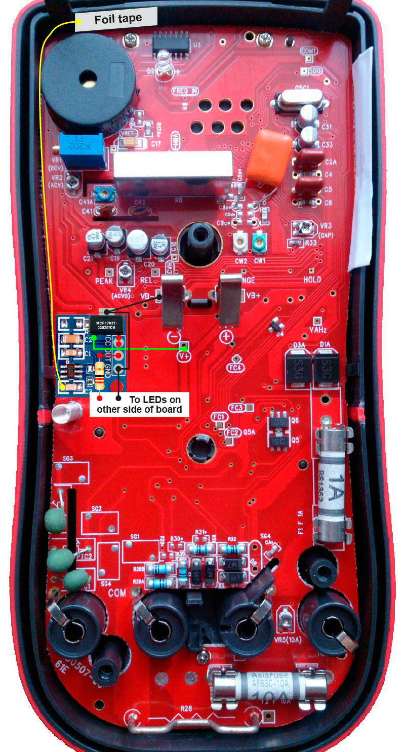 Uni-T UT61E backlight mod with touch sensor [tutorial] - Page 1