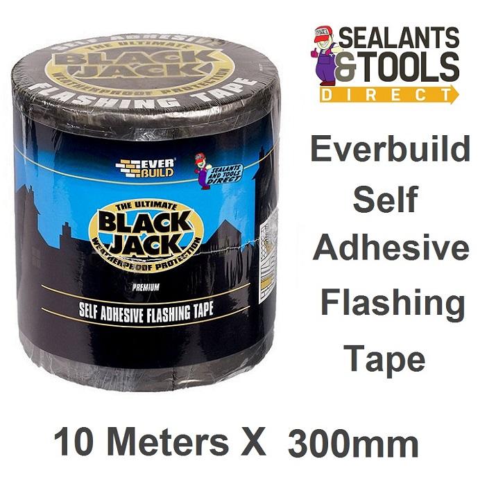 Everbuild FLAS300 Black Jack Self Adhesive Flashing Tape 300mm x 10m