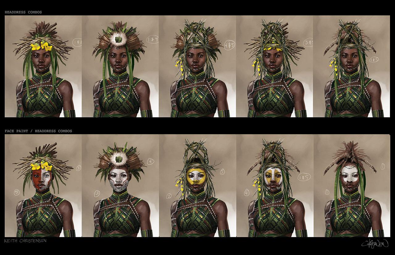 Black Panther Concept Art Nakia Headdress