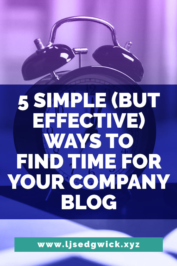 Many tech companies put off blogging because they're not sure how to find time to write posts. Here are 5 ways to do just that - and you can get started today.