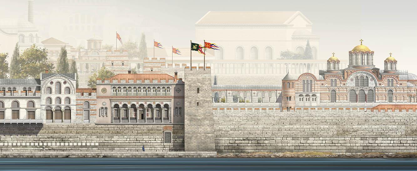 представленном ниже большой дворец константинополь фото отображает приблизительную