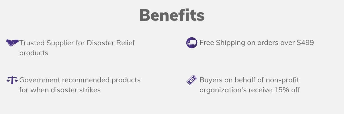 Making All Time Trading your trusted supplier for disaster relief products is the best decision you can make
