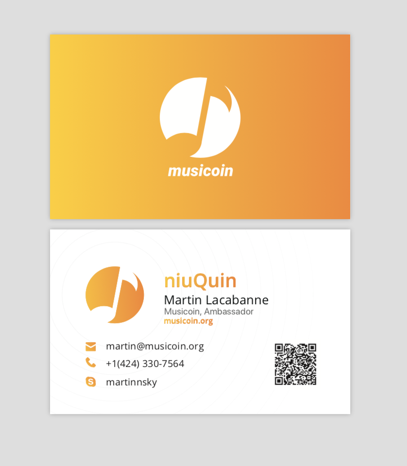 musicoin corporative card