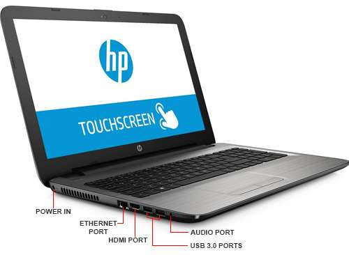 "Laptop HP 15-BA113CL AMD A10 12GB 1TB TOUCH 15.6"" Win10 REACONDICIONADO dir"