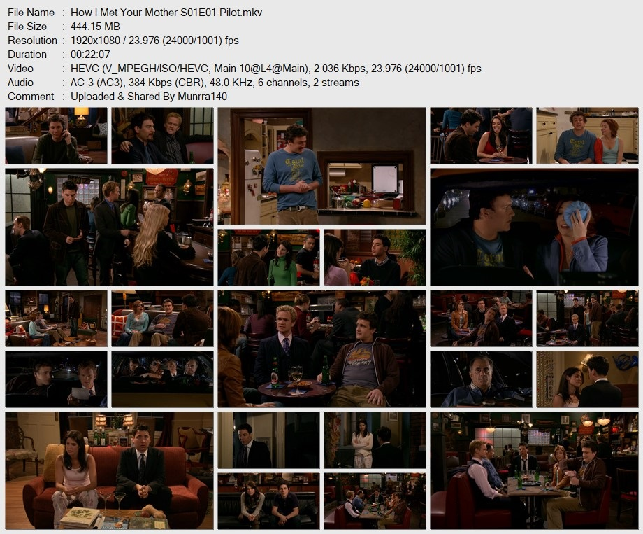 How I Met Your Mother Season 1 x265 10Bits 1080p