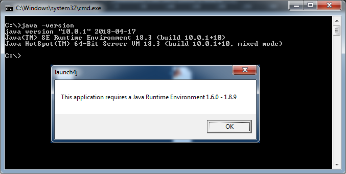 Launch4j Executable Wrapper / Bugs / #189 Wrong range of supported
