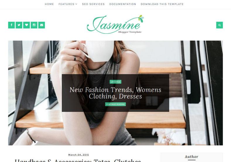 Jasmine_Minimal_Blogger_Template