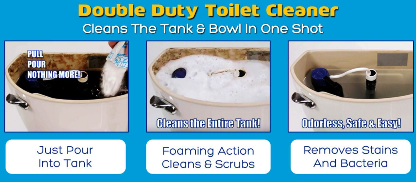 3 Pack Hurriclean Toilet Bowl Cleaner Automatic Tank Clean