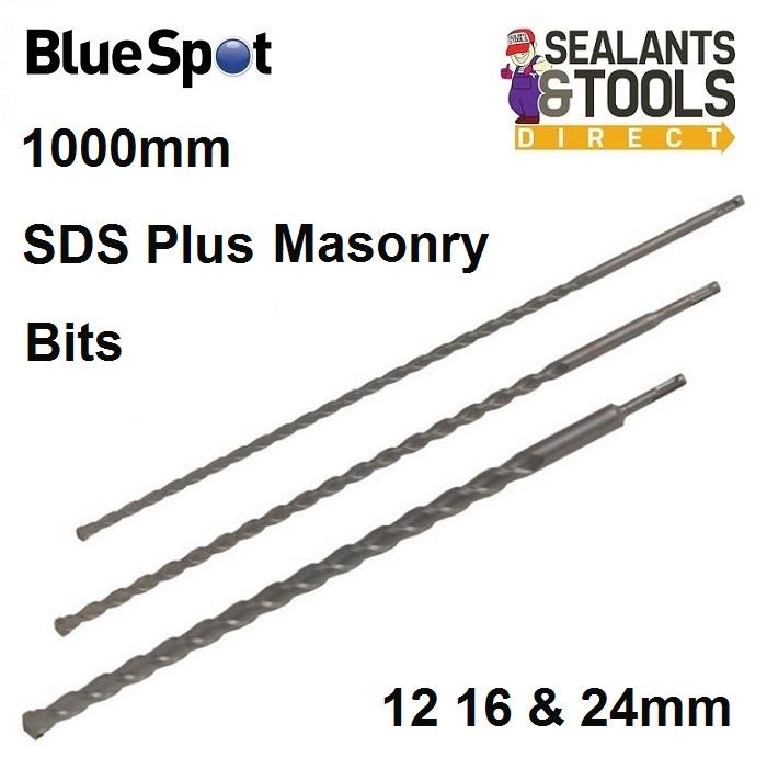12mm//16mm//24mm Blue Spot 20004 3 Piece SDS Drill Bits