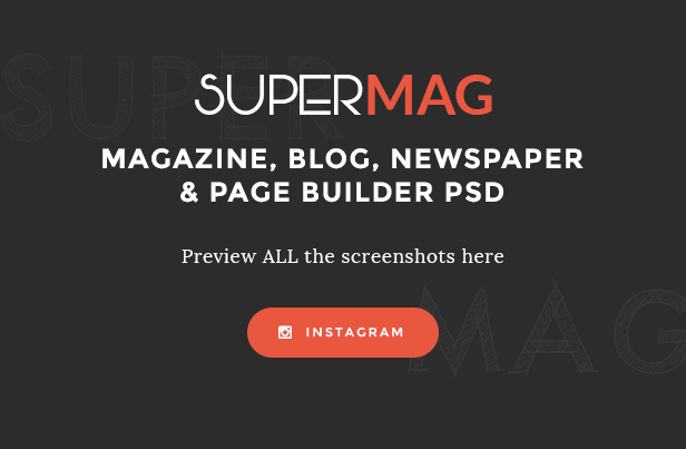 SuperMag - Magazine/Newspaper/Blog & Builder PSD Template - 3