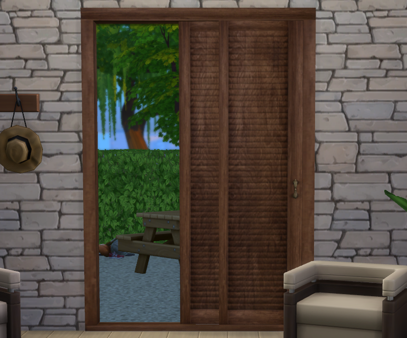Darksyngr's Recolors of Chicklet's Louvered Door Conversion Wooddoor