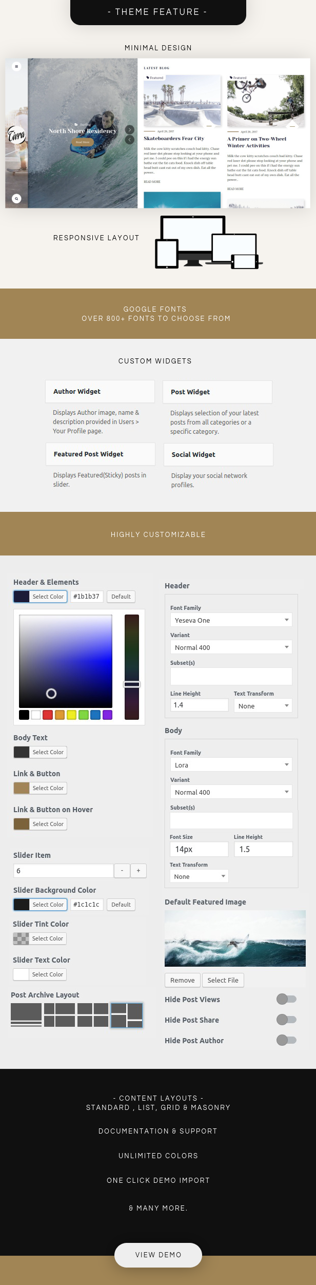 Tivra – Personal WordPress Blog Theme (Blog / Magazine)