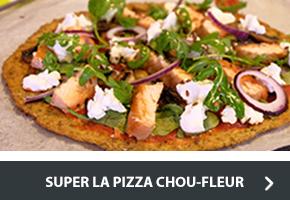 Recette de la pizza chou-fleur