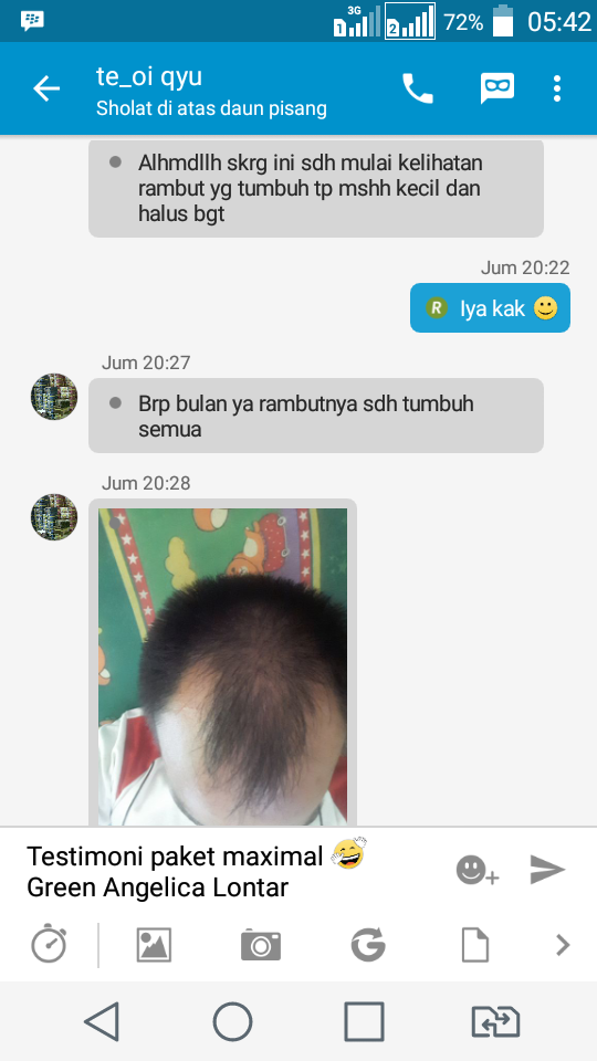 testimoni_green_angelica_paket_maximal_treatment