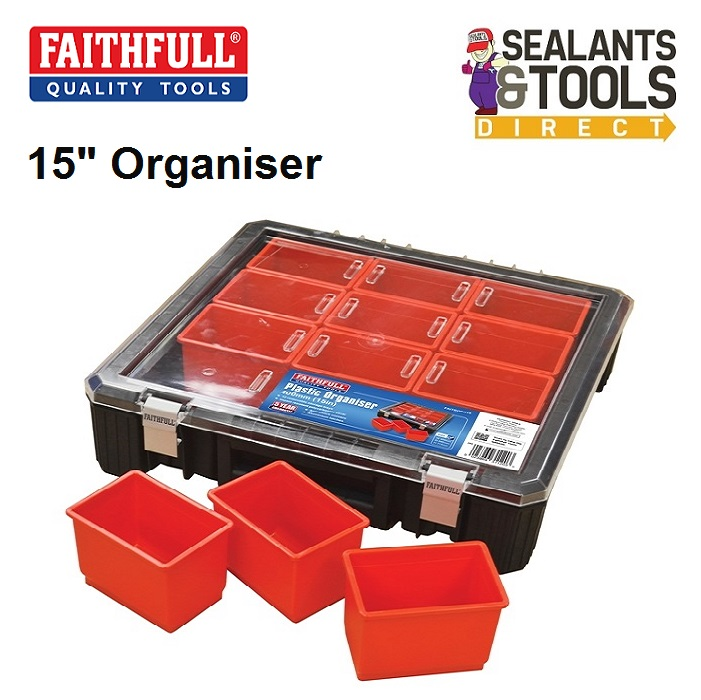 Faithfull 15 inch Large Compartment Organiser