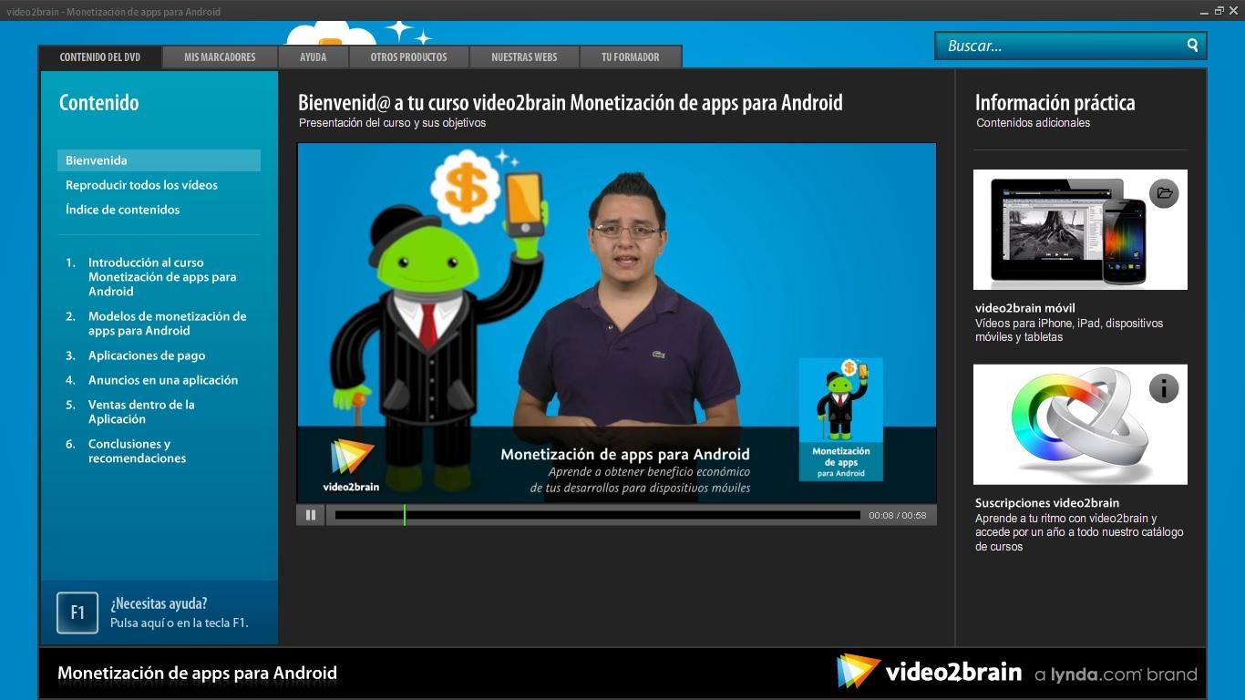 Curso Android: Monetización de apps [Torrent]   Video2brain