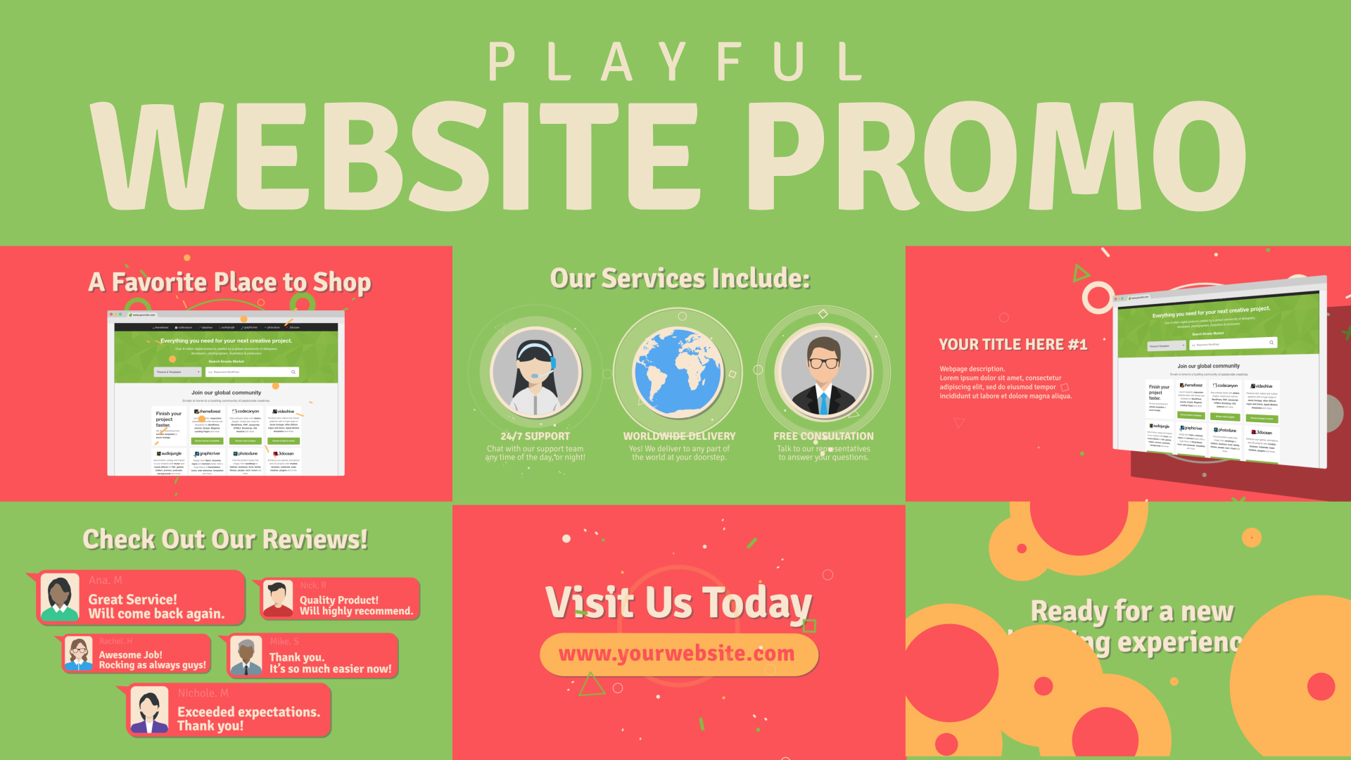Playful Website Promo By Vdeesign Videohive