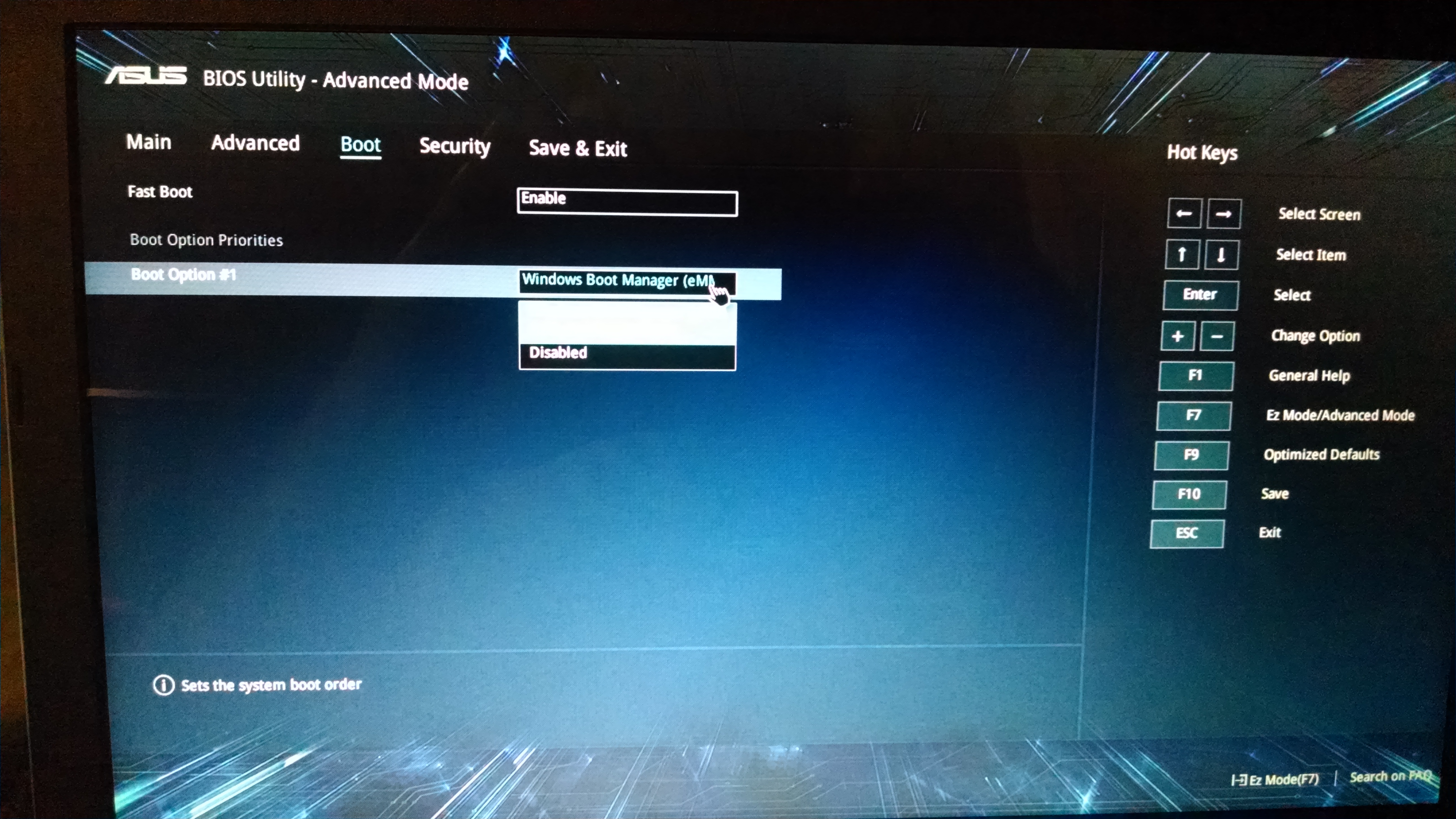 disable secure boot asus uefi