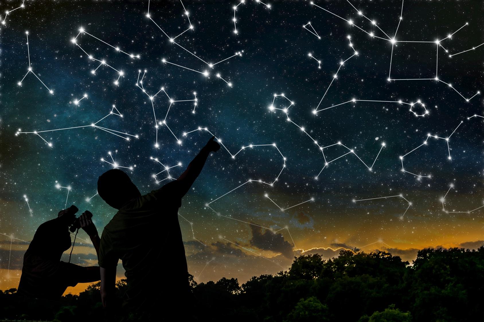 Constelações no céu