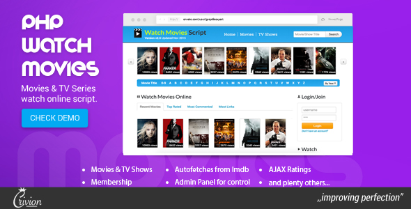 CodeCanyon - PHP Watch Movies Script v2.7