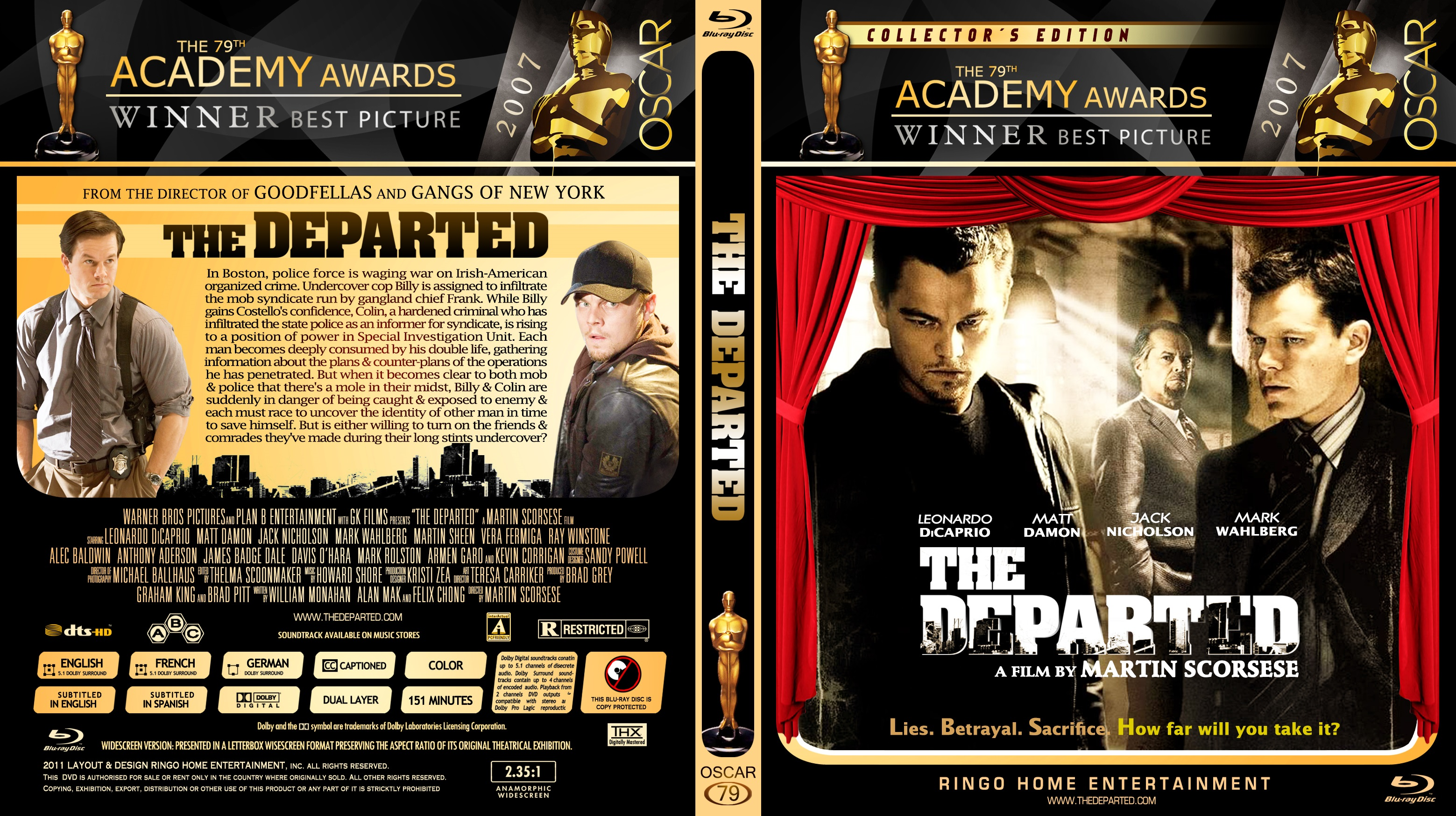 The Departed (2006) Open Matte x265 10Bits 1080p