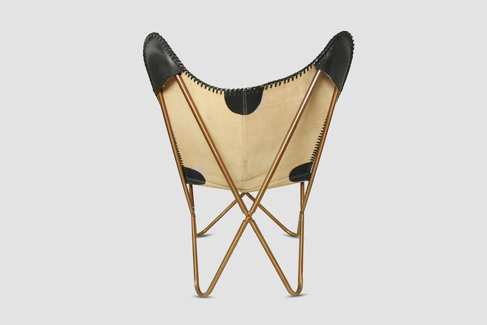 butterfly chair echtleder vintage relaxsessel schmetterling stuhl hardoy schwarz ebay. Black Bedroom Furniture Sets. Home Design Ideas