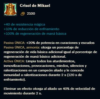 Estadísticas del Crisol de Mikael