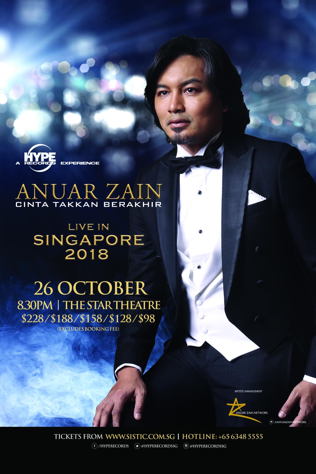 Anuar Zain 'Cinta Takkan Berakhir' Live In Singapore 2018