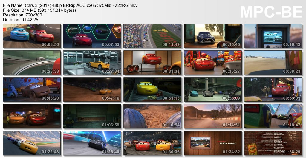 Download Cars 3 (2017) Dual Audio Eng-Hindi 480p BRRip ACC x265 375Mib - a Torrent