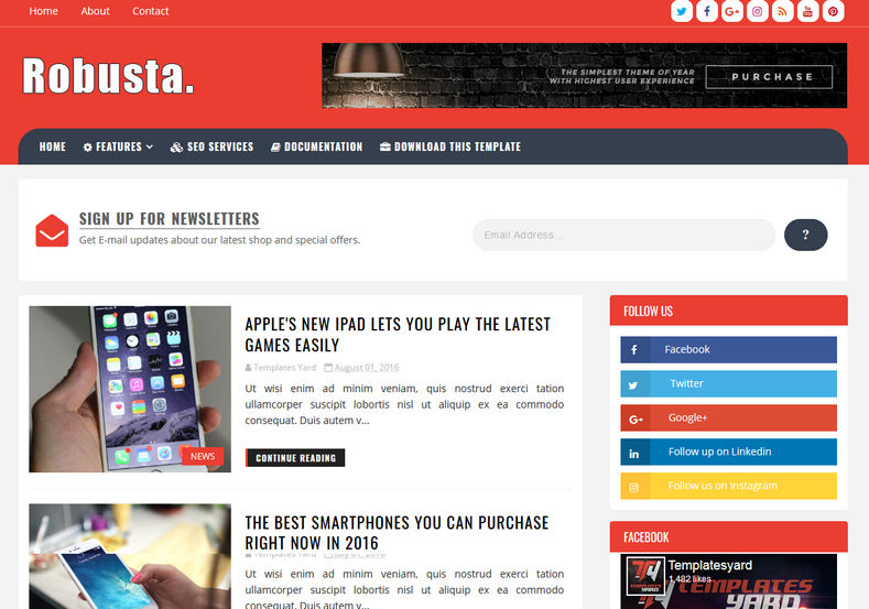 Robusta_Blogger_Template