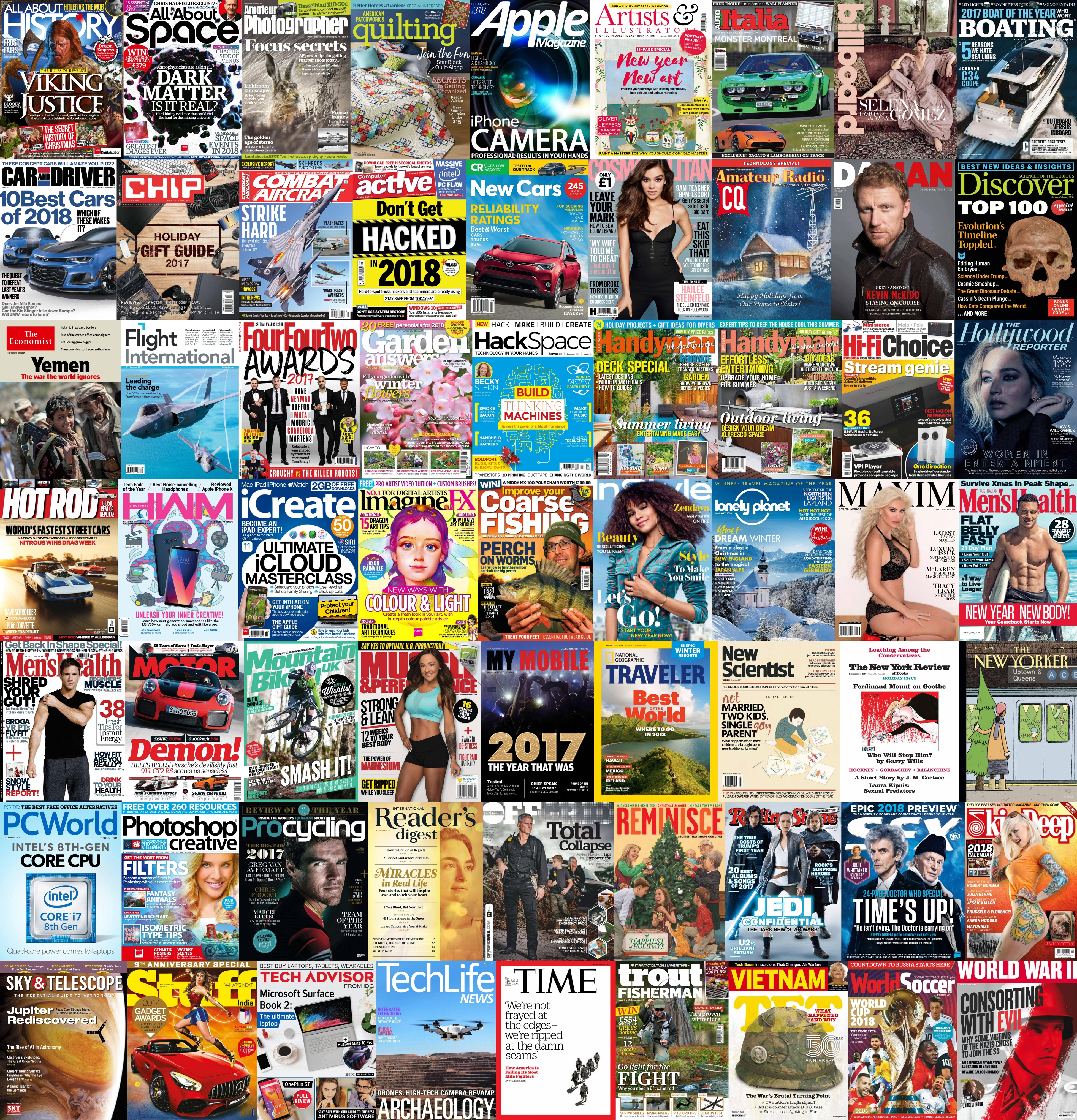 Assorted Magazines - December 7 2017