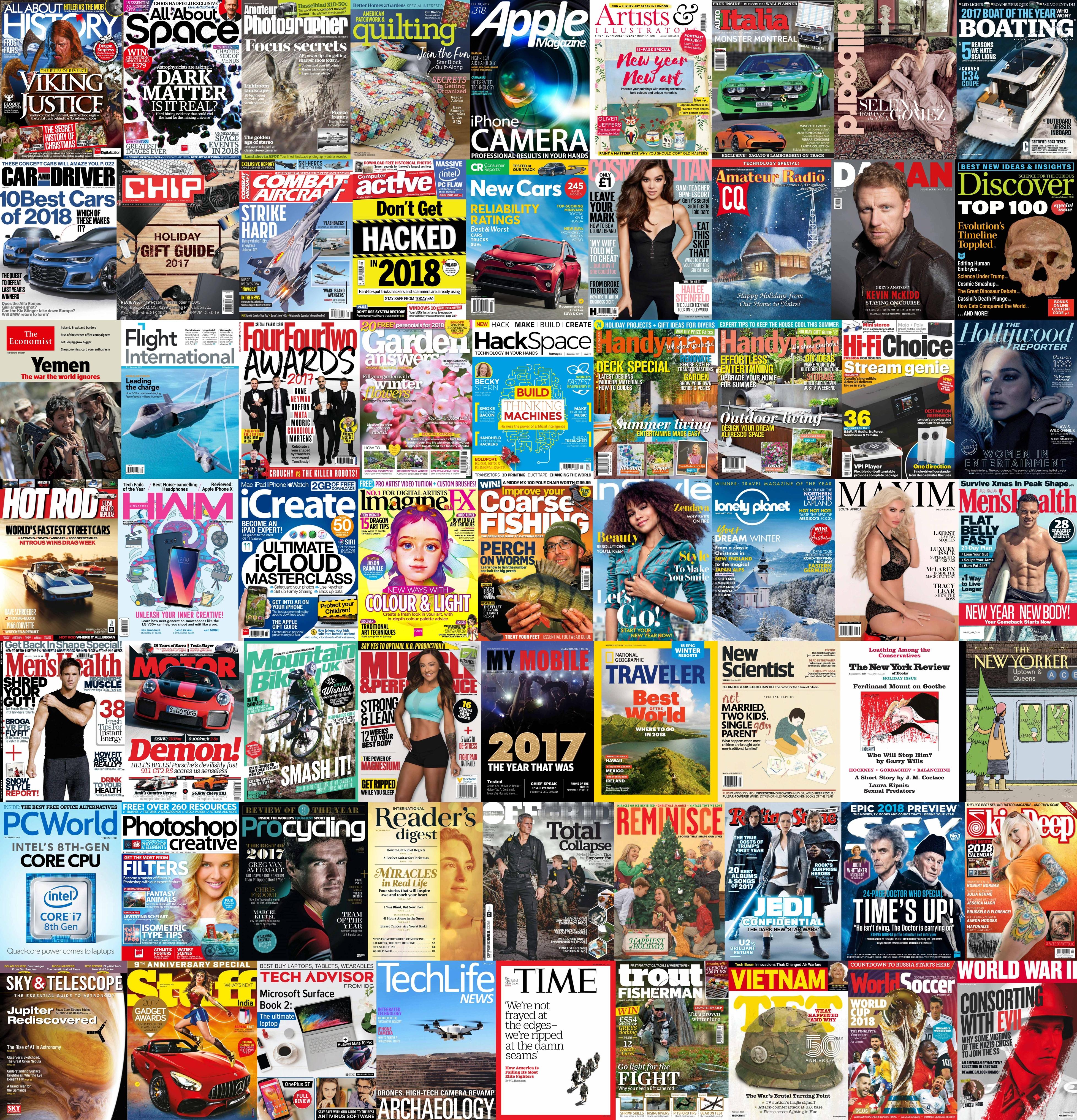 Assorted Magazines December 7 2017